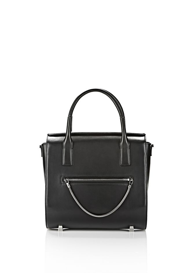 ALEXANDER WANG LARGE CHASTITY IN BLACK WITH RHODIUM  TOTE Adult 12_n_f