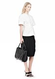 ALEXANDER WANG LARGE CHASTITY IN BLACK WITH RHODIUM  TOTE/DEL Adult 8_n_r
