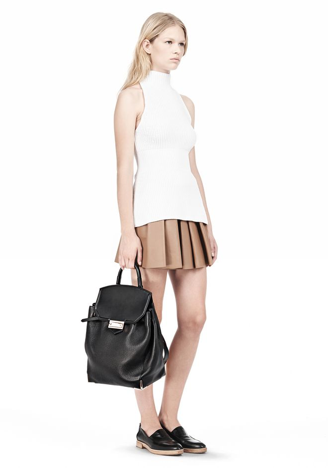ALEXANDER WANG PRISMA SKELETAL BACKPACK IN SOFT BLACK WITH ROSE GOLD BACKPACK Adult 12_n_a
