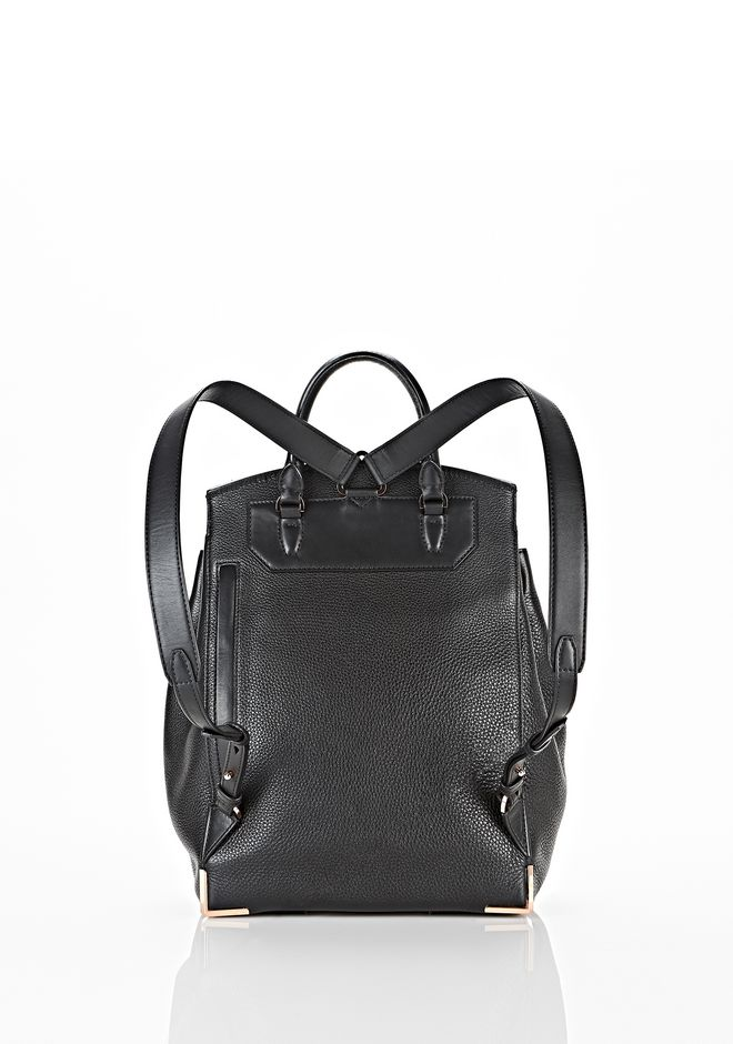 ALEXANDER WANG PRISMA SKELETAL BACKPACK IN SOFT BLACK WITH ROSE GOLD BACKPACK Adult 12_n_d