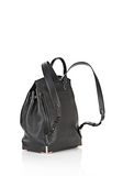 ALEXANDER WANG PRISMA SKELETAL BACKPACK IN SOFT BLACK WITH ROSE GOLD BACKPACK Adult 8_n_e