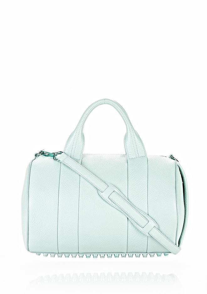ALEXANDER WANG ROCCO IN PEBBLED PEPPERMINT WITH ZINC Shoulder bag Adult 12_n_f