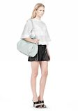 ALEXANDER WANG ROCCO IN PEBBLED PEPPERMINT WITH ZINC Shoulder bag Adult 8_n_r
