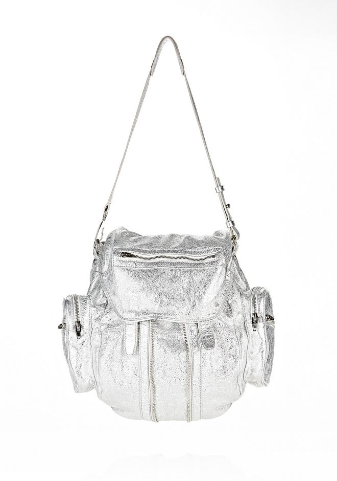 ALEXANDER WANG MARTI IN RHODIUM WITH NICKEL BACKPACK Adult 12_n_d