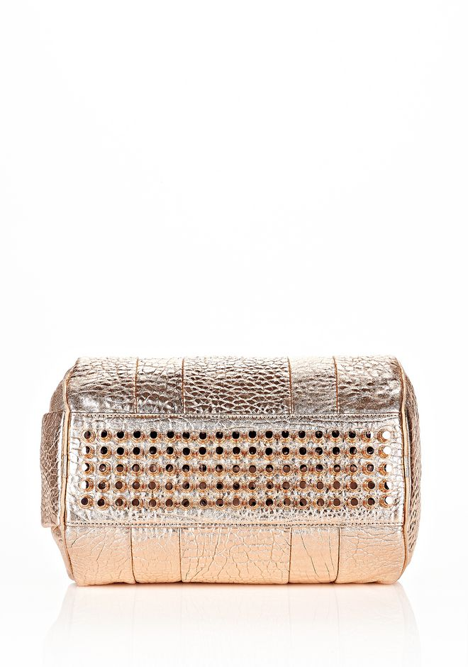 ALEXANDER WANG ROCCO IN PEBBLED ROSE GOLD METALLIC WITH ROSE GOLD Shoulder bag Adult 12_n_d