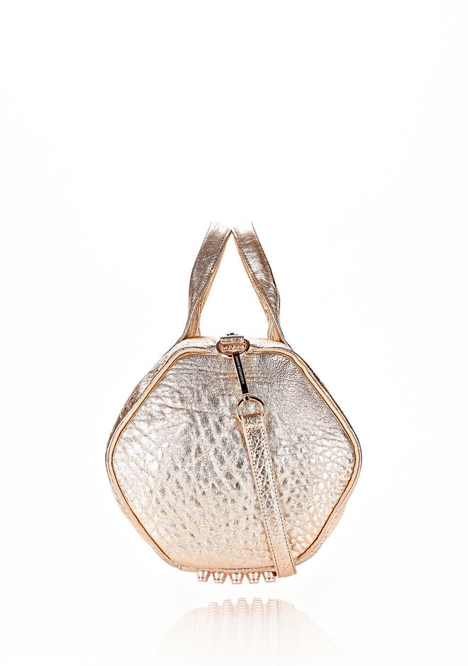 ALEXANDER WANG ROCCO IN PEBBLED ROSE GOLD METALLIC WITH ROSE GOLD Shoulder bag Adult 12_n_e
