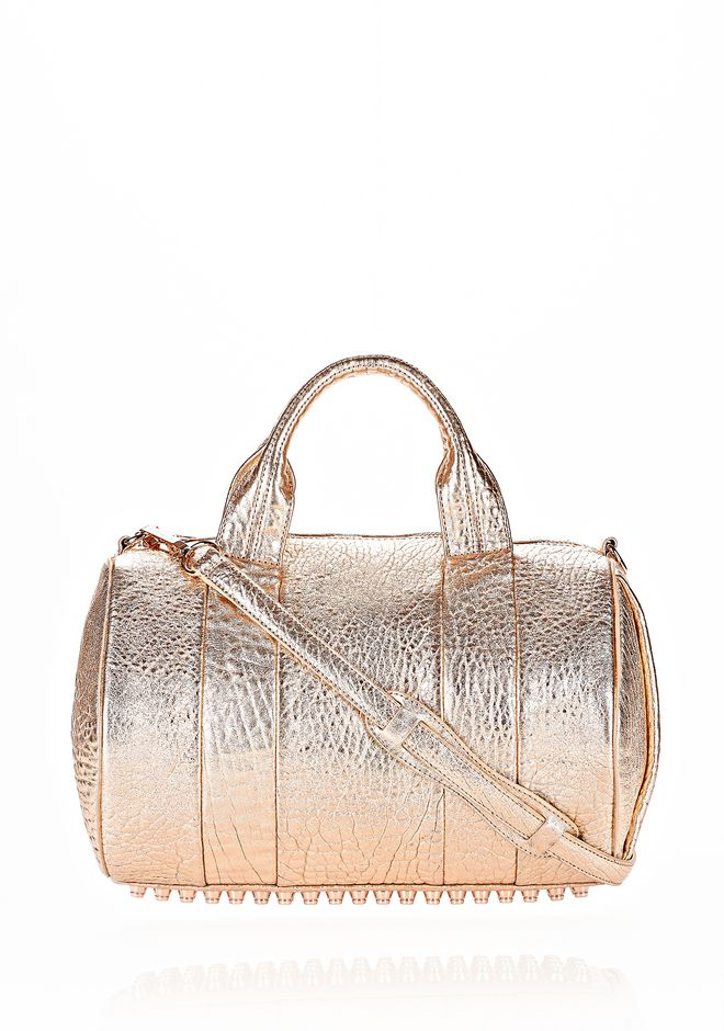ALEXANDER WANG ROCCO IN PEBBLED ROSE GOLD METALLIC WITH ROSE GOLD Shoulder bag Adult 12_n_f