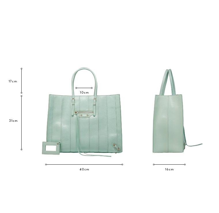 BALENCIAGA Tote Bag D Balenciaga Papier Wasserschlange A4 c