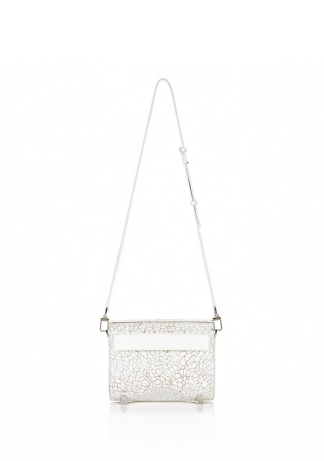 ALEXANDER WANG CHASTITY MINI IN HEAVY CRACKED PEROXIDE WITH RHODIUM Shoulder bag Adult 12_n_d
