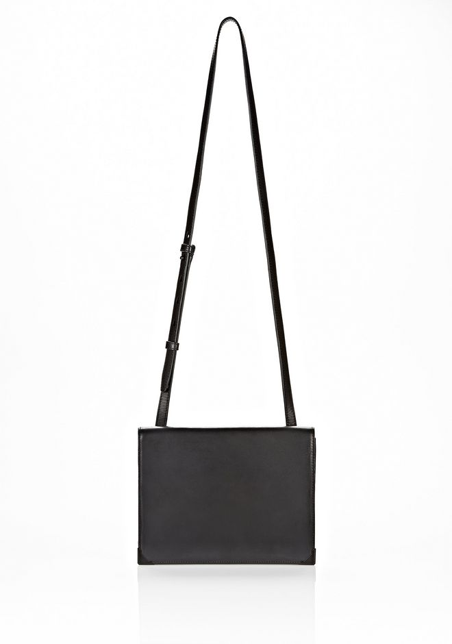 ALEXANDER WANG PRISMA SKELETAL DOUBLE ENVELOPE CLUTCH IN EMBOSSED BLACK WITH MATTE BLACK Shoulder bag Adult 12_n_d