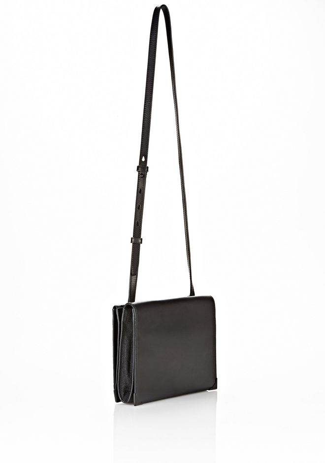 ALEXANDER WANG PRISMA SKELETAL DOUBLE ENVELOPE CLUTCH IN EMBOSSED BLACK WITH MATTE BLACK Shoulder bag Adult 12_n_e