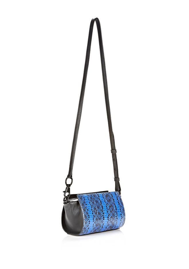 ALEXANDER WANG EXCLUSIVE PELICAN SLING IN CURACAO WITH MATTE BLACK Shoulder bag Adult 12_n_e