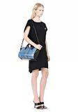 ALEXANDER WANG EXCLUSIVE PELICAN MINI SATCHEL IN CURACAO WITH MATTE BLACK Shoulder bag Adult 8_n_r