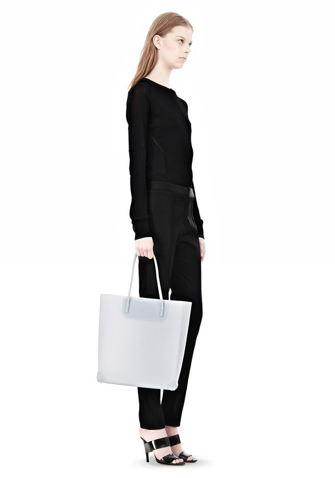 ALEXANDER WANG PRISMA MOLDED TOTE IN ICING TOTE/DEL Adult 12_n_r