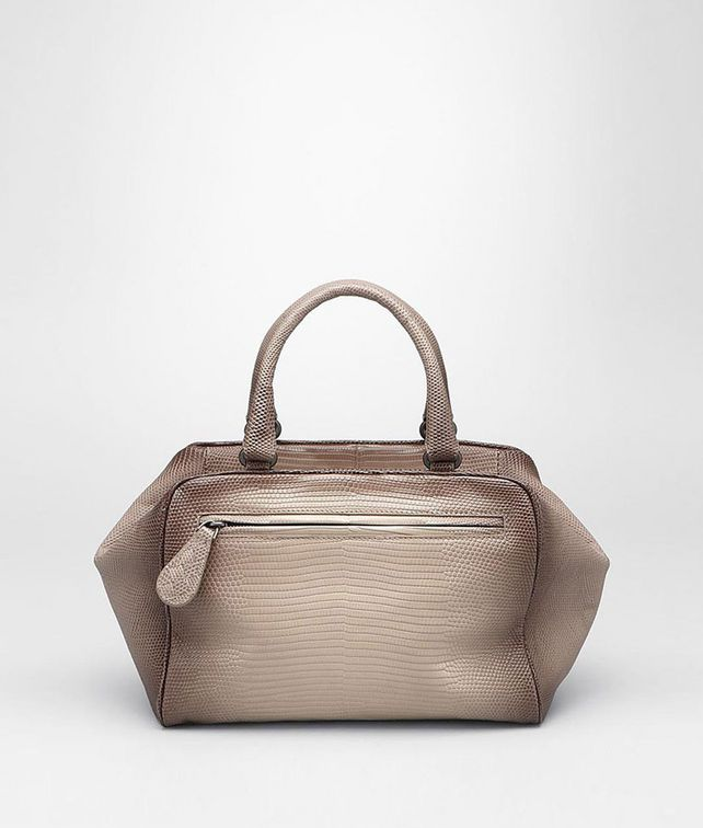 BOTTEGA VENETA SAND LIZARD SFUMATA NOIRCI BRERA BAG Top Handle Bag D fp
