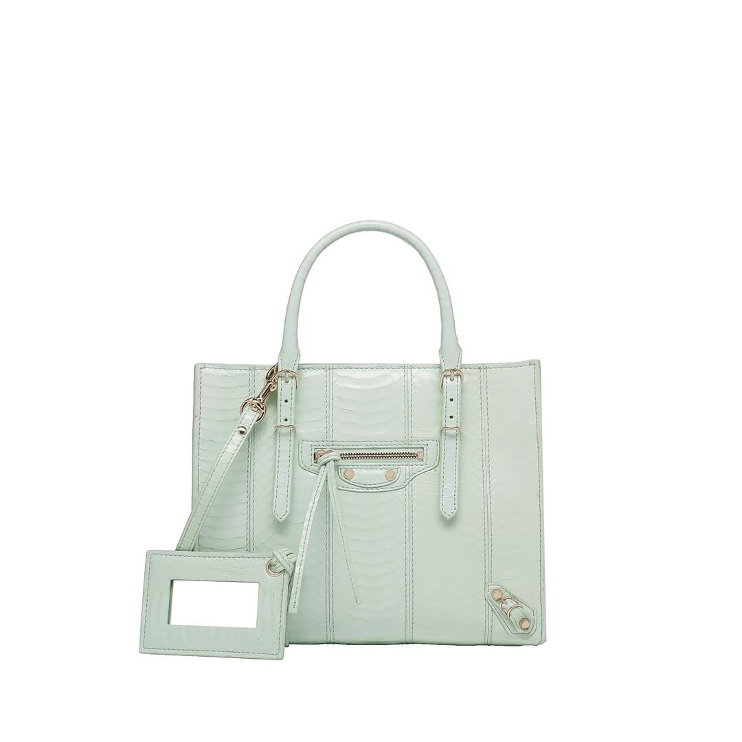 BALENCIAGA Balenciaga Papier Elaphe Mini A4 Papier Exotic Handbag D f