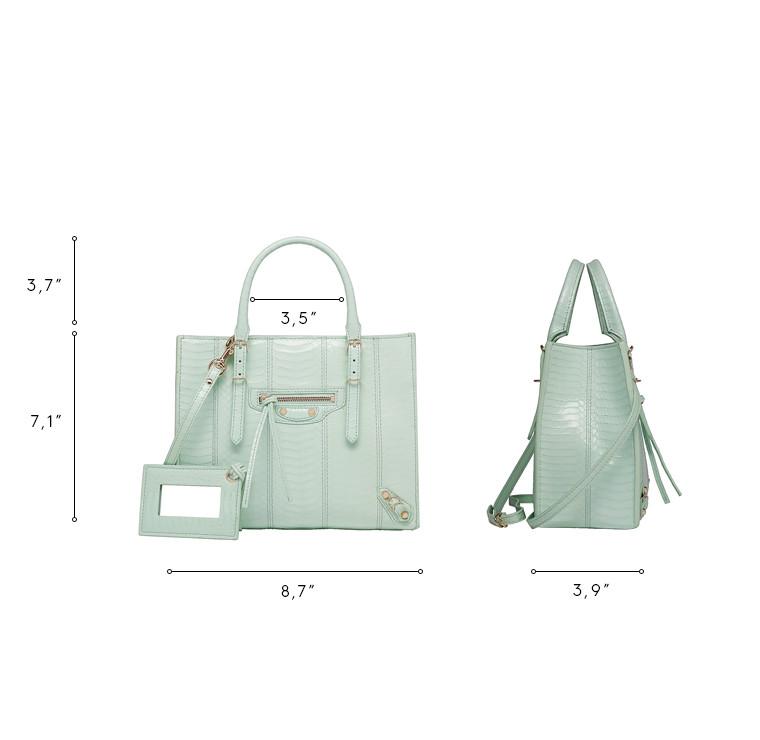 BALENCIAGA Papier Exotic Handbag D Balenciaga Papier Elaphe Mini A4 n