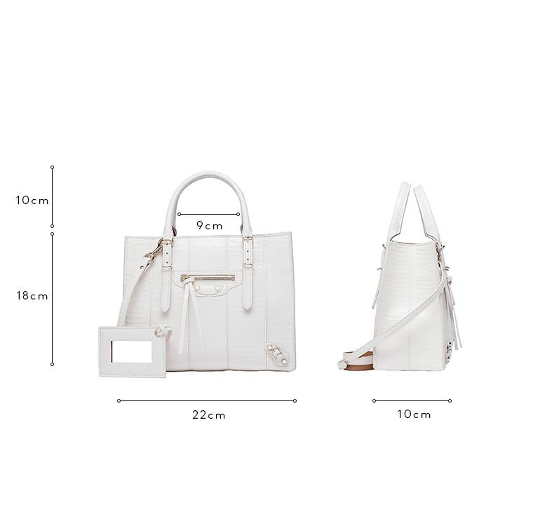 BALENCIAGA Papier Exotic Handtasche D Balenciaga Papier Wasserschlange Mini A4 c