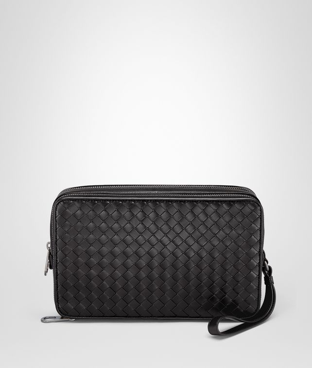 BOTTEGA VENETA PORTE-DOCUMENTS NERO EN CUIR VN INTRECCIATO Petit sac U fp