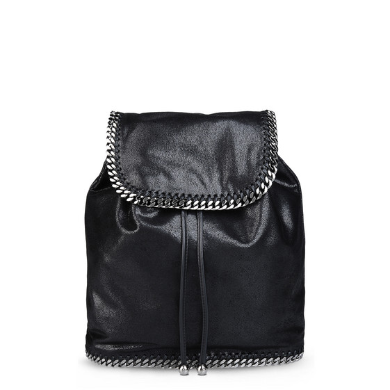 Black Falabella Shaggy Deer Backpack Stella Mccartney