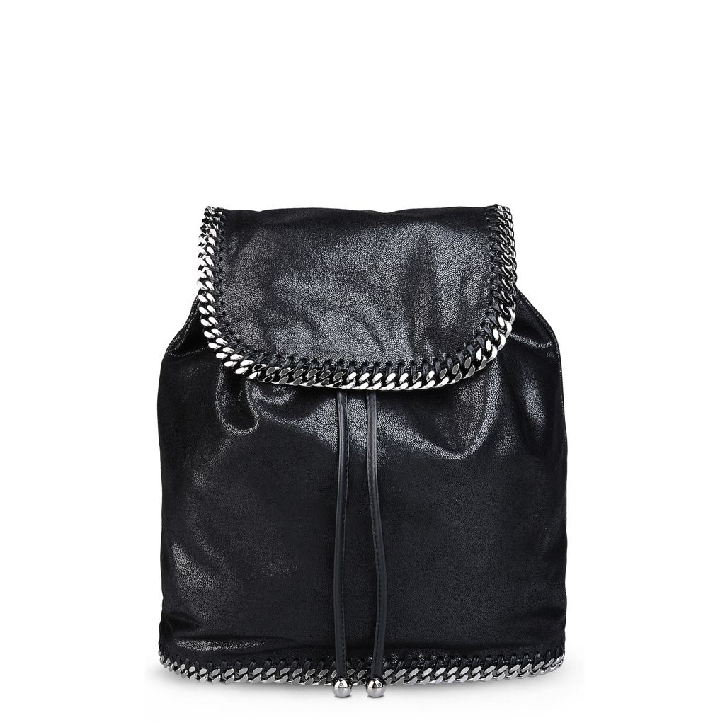 Black Falabella Shaggy Deer Backpack - STELLA MCCARTNEY