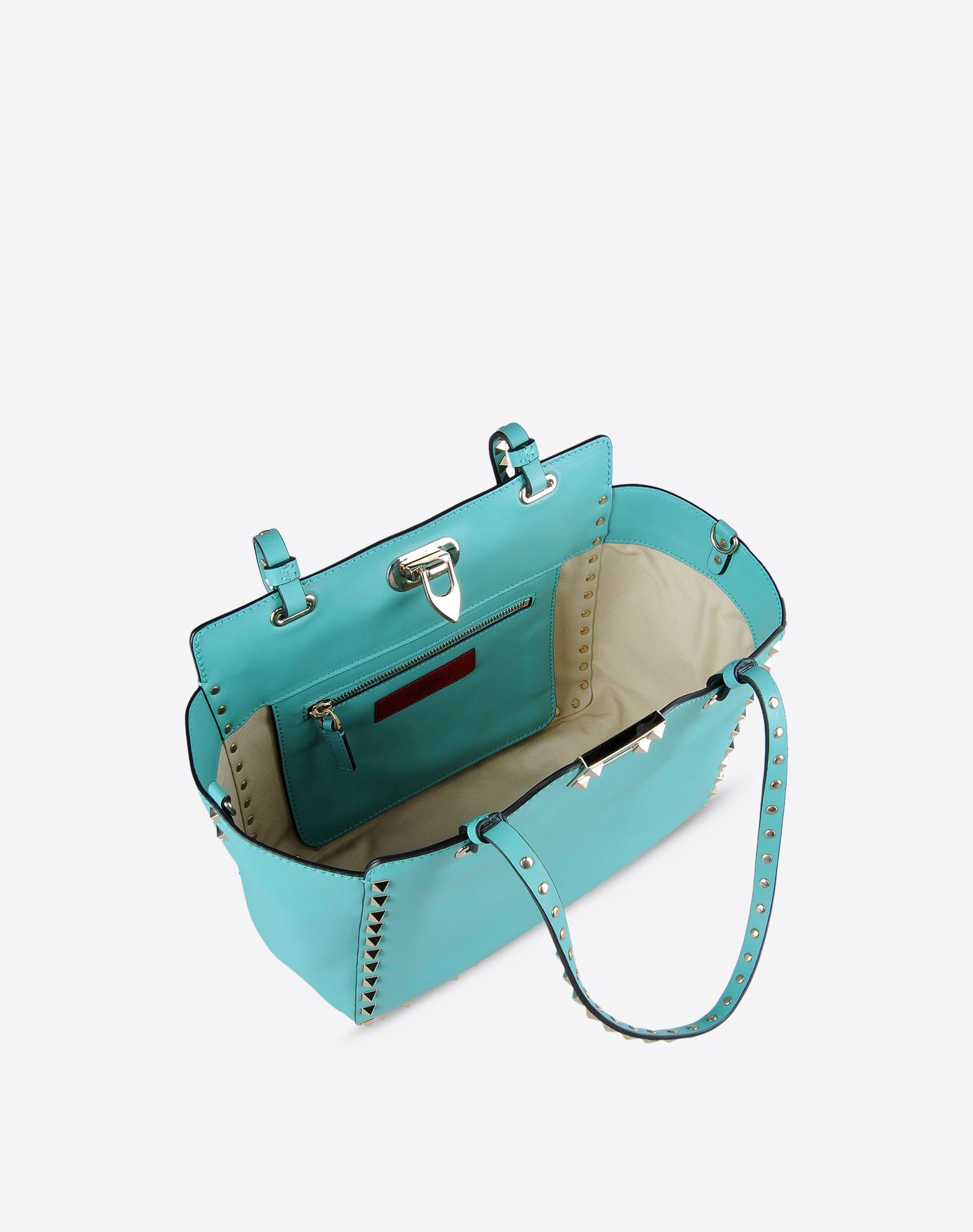VALENTINO Metal Applications Solid color Framed closure Internal zip pocket Removable shoulder strap  45227735qr