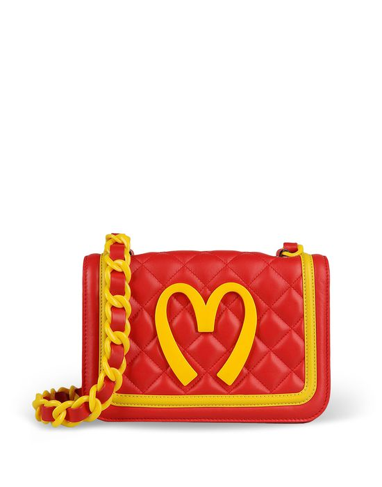 Medium leather bag Woman MOSCHINO