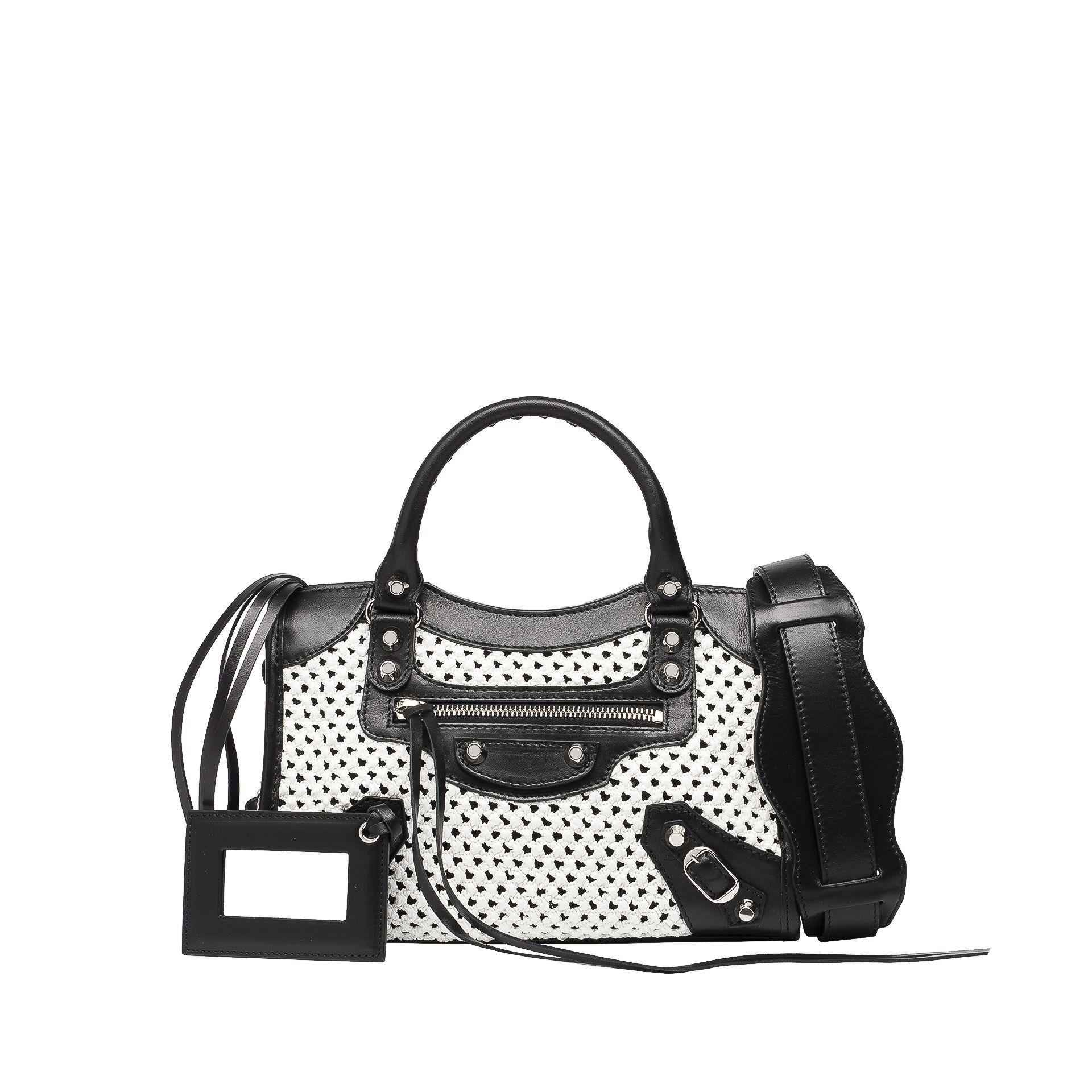 BALENCIAGA Balenciaga Weaving Classic Mini City Messenger Bag D f