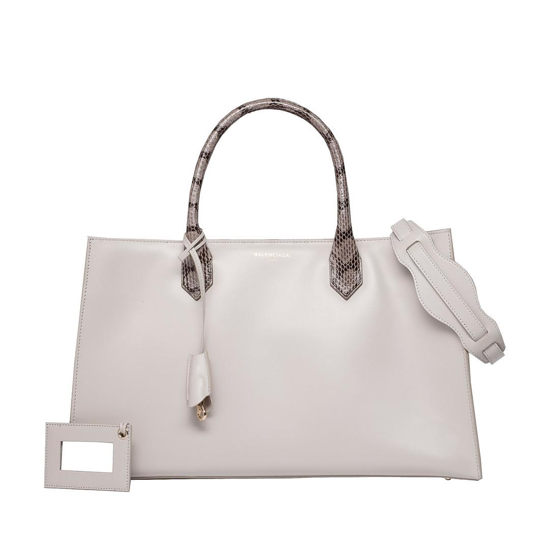 BALENCIAGA Balenciaga Padlock Nude Work S Top handle bag D f