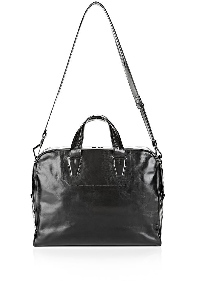 ALEXANDER WANG BRIEFCASE IN WAXY BLACK WITH MATTE BLACK Travel Adult 12_n_e
