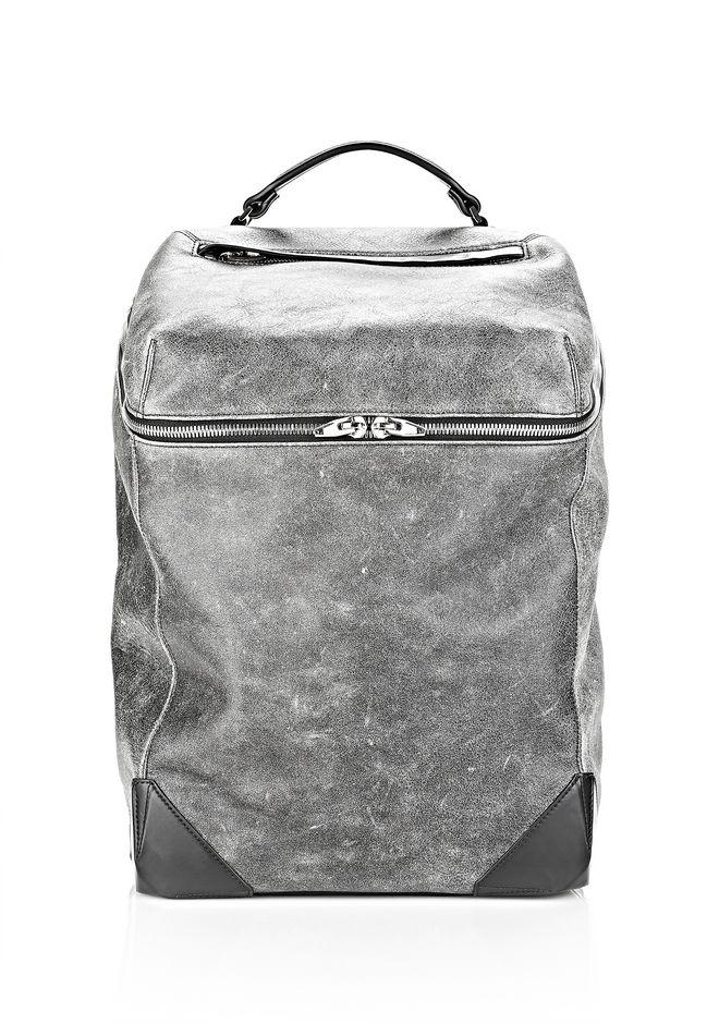 ALEXANDER WANG WALLIE BACKPACK IN DISTRESSED BLACK WITH RHODIUM BACKPACK Adult 12_n_f