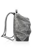 ALEXANDER WANG WALLIE BACKPACK IN DISTRESSED BLACK WITH RHODIUM BACKPACK Adult 8_n_e
