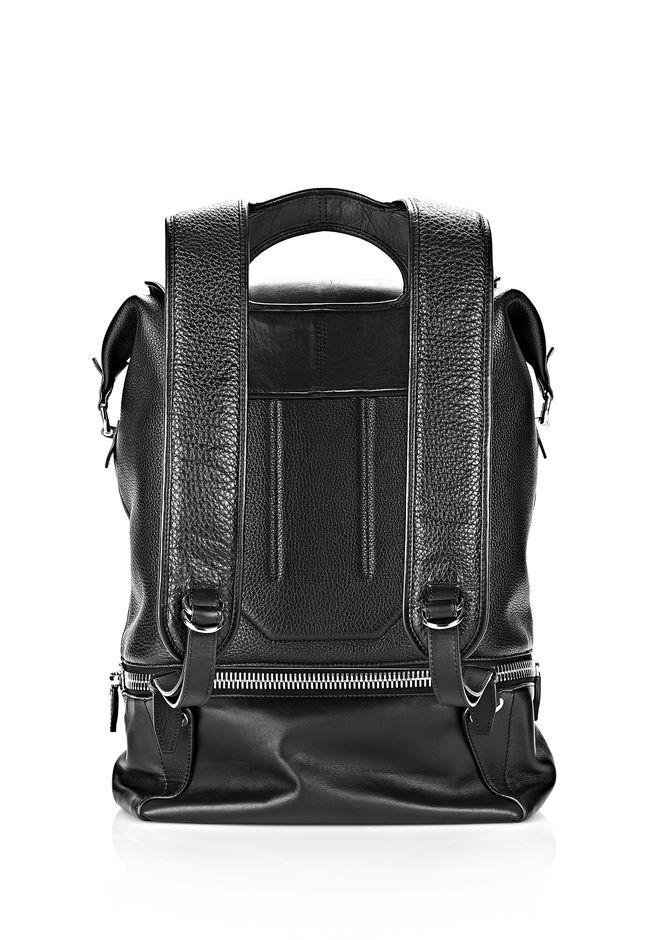 ALEXANDER WANG EXPLORER BACKPACK IN BLACK WITH RHODIUM BACKPACK Adult 12_n_d