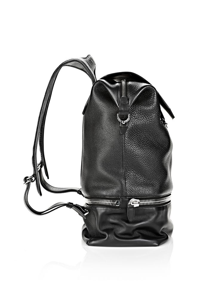 ALEXANDER WANG EXPLORER BACKPACK IN BLACK WITH RHODIUM BACKPACK Adult 12_n_e