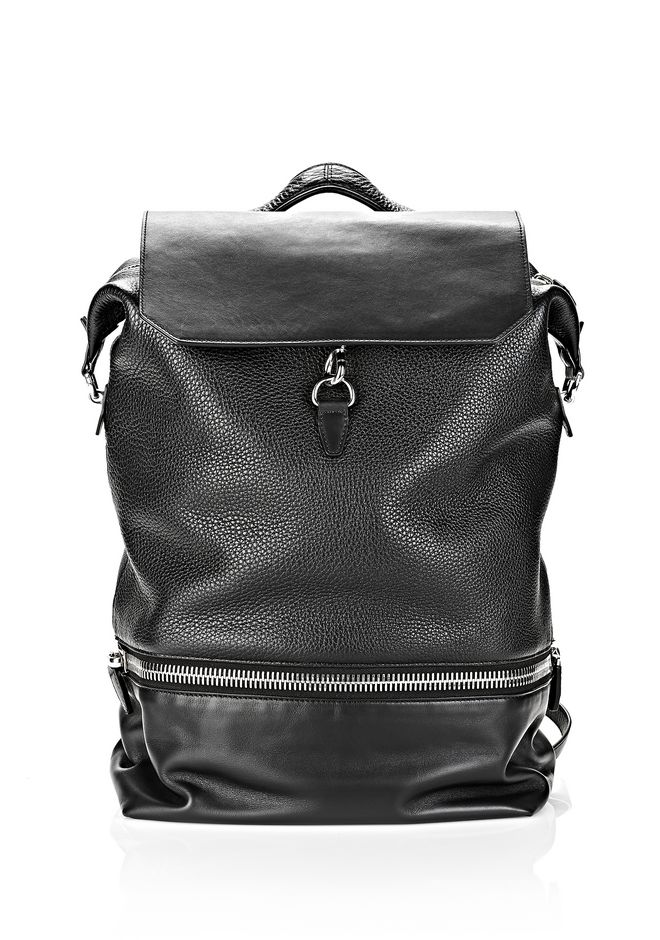 ALEXANDER WANG EXPLORER BACKPACK IN BLACK WITH RHODIUM BACKPACK Adult 12_n_f