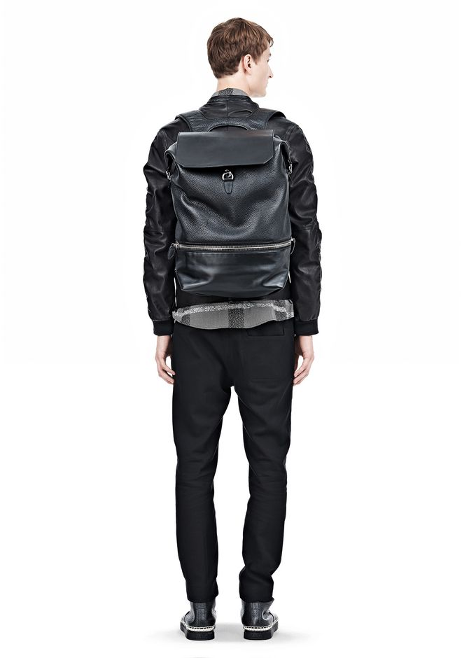 ALEXANDER WANG EXPLORER BACKPACK IN BLACK WITH RHODIUM BACKPACK Adult 12_n_r