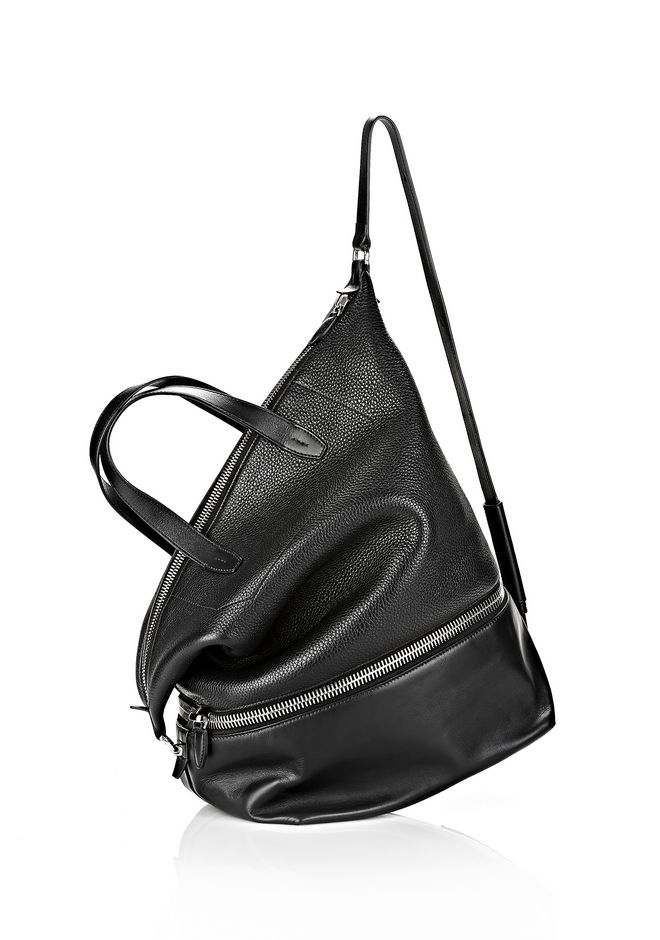 ALEXANDER WANG EXPLORER TOTE IN  BLACK WITH RHODIUM Travel Adult 12_n_e