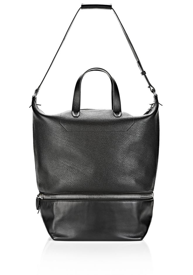 ALEXANDER WANG EXPLORER TOTE IN  BLACK WITH RHODIUM Travel Adult 12_n_f