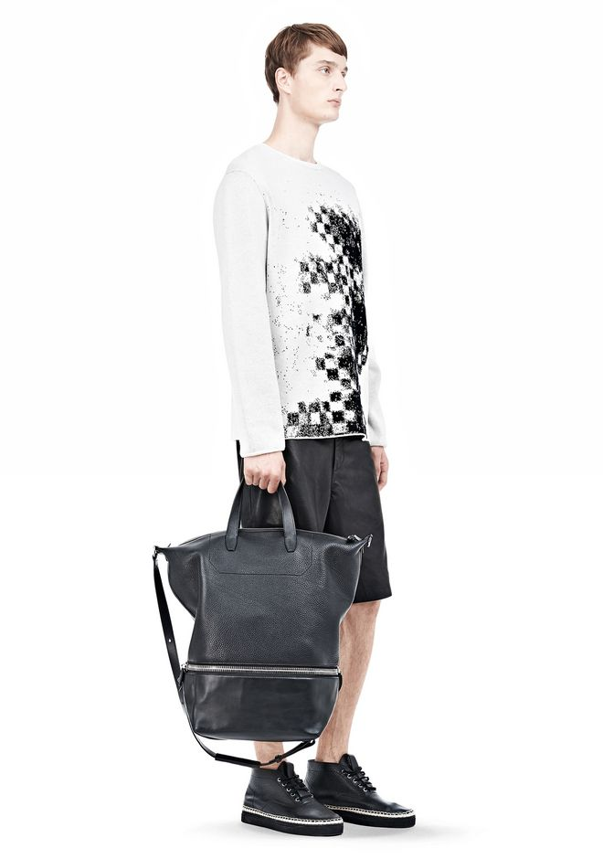 ALEXANDER WANG EXPLORER TOTE IN  BLACK WITH RHODIUM Travel Adult 12_n_r