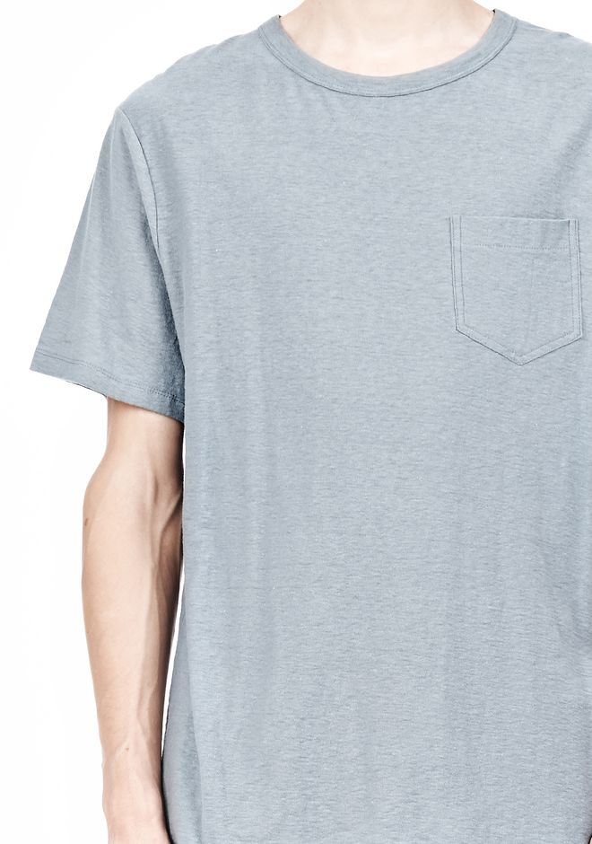 T by ALEXANDER WANG SLUB COTTON JERSEY TEE WITH CHEST POCKET TEE Adult 12_n_a