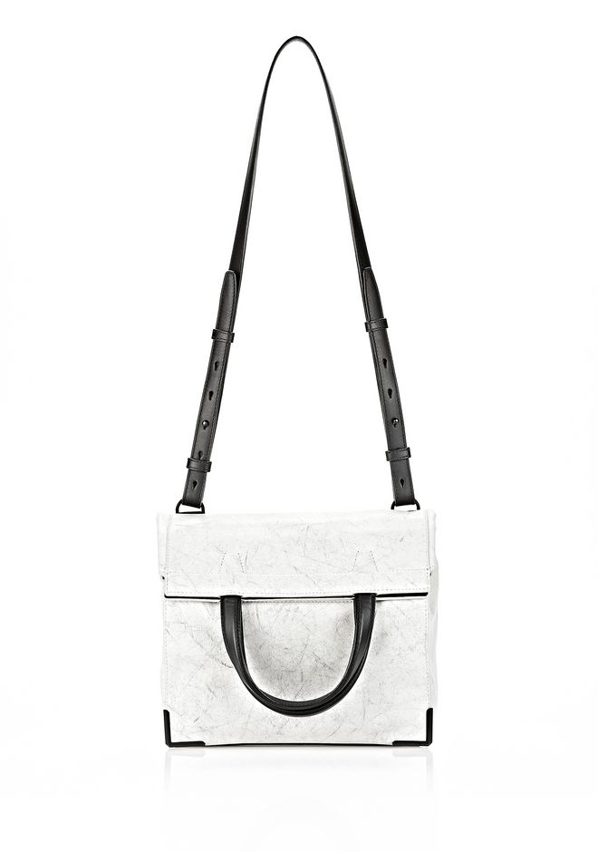 ALEXANDER WANG EXCLUSIVE PRISMA LUNCH BAG IN CHALK WITH MATTE BLACK Shoulder bag Adult 12_n_f