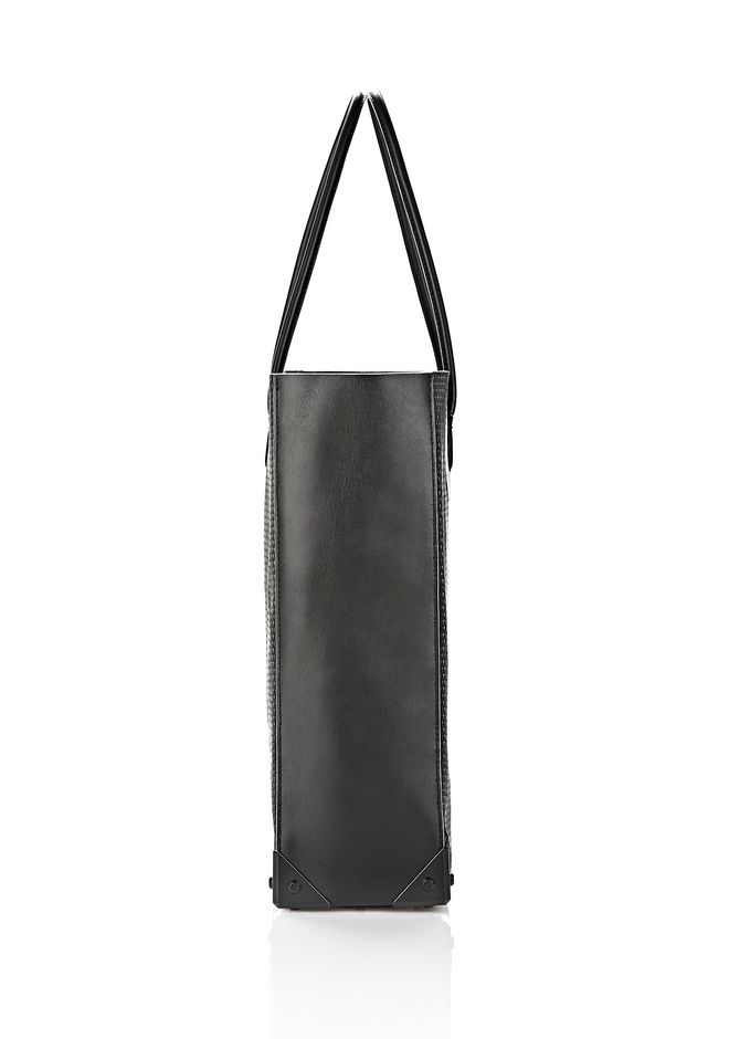 ALEXANDER WANG PRISMA TOTE IN BLACK WITH MATTE BLACK TOTE/DEL Adult 12_n_e