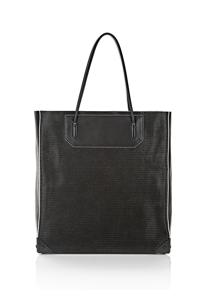ALEXANDER WANG PRISMA TOTE IN BLACK WITH MATTE BLACK TOTE/DEL Adult 12_n_f