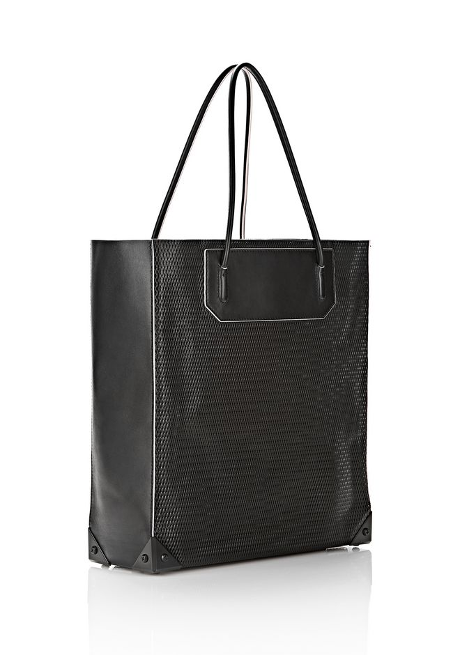 ALEXANDER WANG PRISMA TOTE IN BLACK WITH MATTE BLACK TOTE/DEL Adult 12_n_r