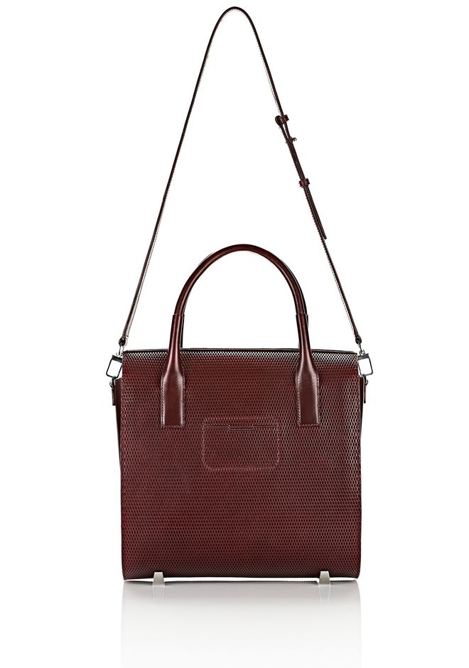 ALEXANDER WANG LARGE CHASTITY IN CORDOVAN WITH RHODIUM TOTE/DEL Adult 12_n_a