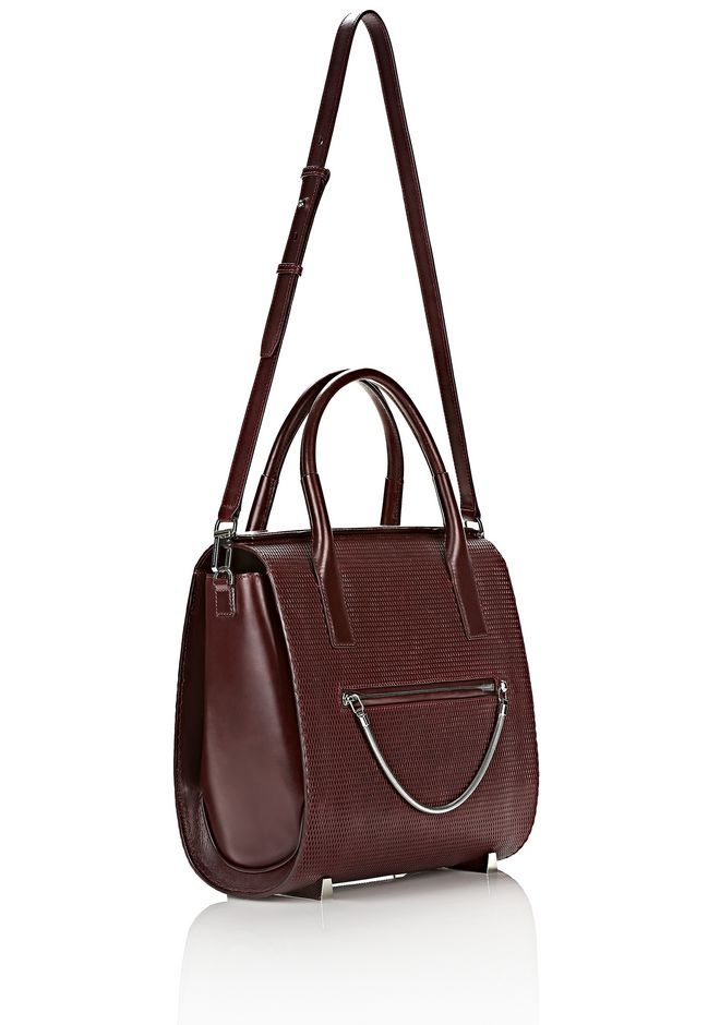 ALEXANDER WANG LARGE CHASTITY IN CORDOVAN WITH RHODIUM TOTE/DEL Adult 12_n_e