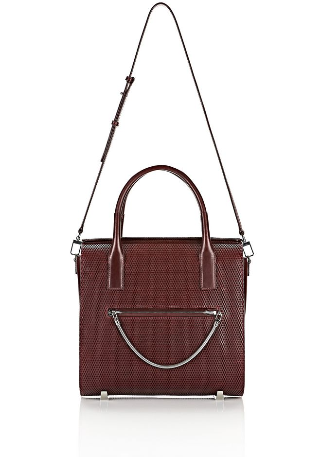 ALEXANDER WANG LARGE CHASTITY IN CORDOVAN WITH RHODIUM TOTE/DEL Adult 12_n_f
