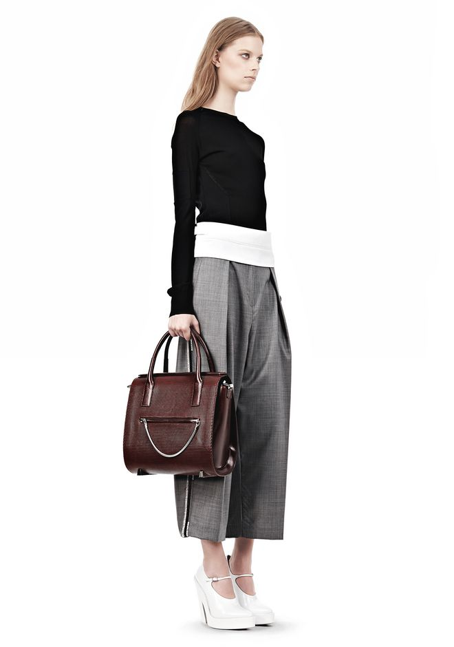 ALEXANDER WANG LARGE CHASTITY IN CORDOVAN WITH RHODIUM TOTE/DEL Adult 12_n_r