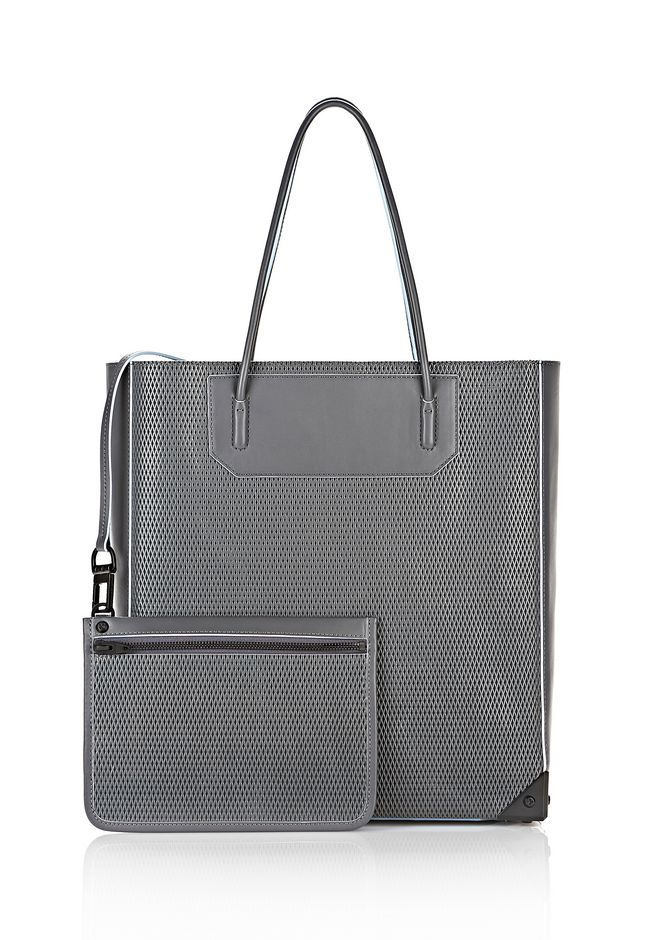 ALEXANDER WANG PRISMA TOTE IN EXHAUST WITH MATTE BLACK  TOTE/DEL Adult 12_n_a