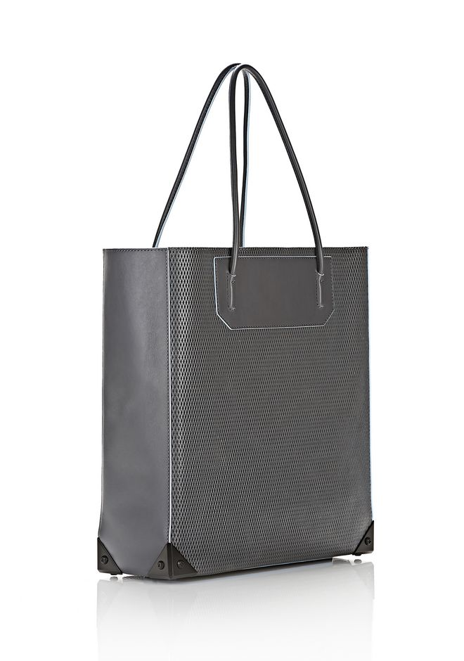 ALEXANDER WANG PRISMA TOTE IN EXHAUST WITH MATTE BLACK  TOTE/DEL Adult 12_n_e
